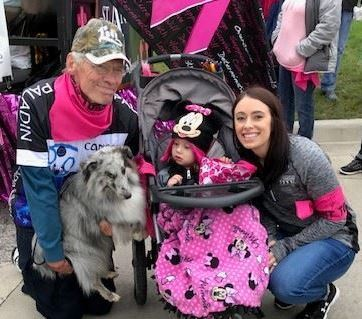 Steve Loger and Katie Nelson, RN, with daughter Nora