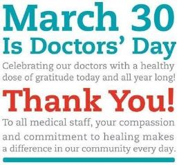 March 30th is Doctors' Day