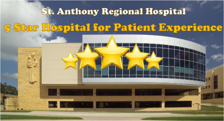 St. Anthony Regional Hospital Ranked as a 5 Star Hospital for Patient Experience